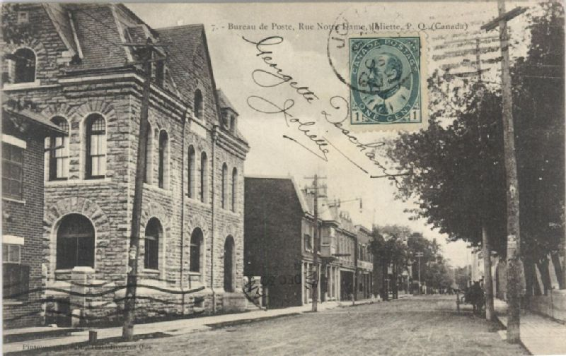 Bureau de poste rue notre dame joliette p. q. canada [image