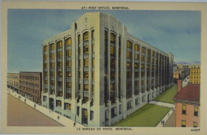 Le bureau de poste montréal image fixe banq numérique