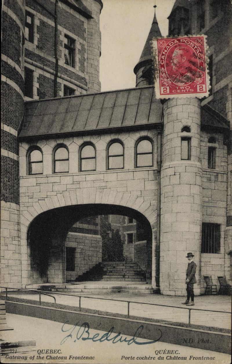 Quebec gateway of the chateau frontenac qu bec porte for Porte quebec