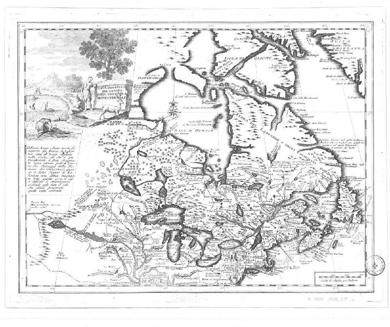 Carta Geografica Del Canada Nellamerica Settentrionale Document