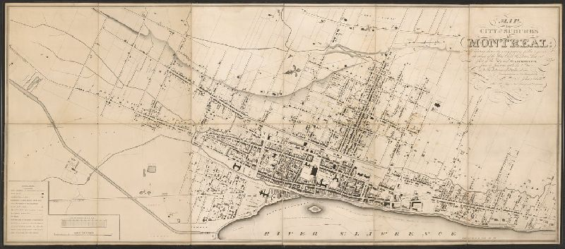 Map of the city and suburbs of Montreal : exhibiting distinctly ...